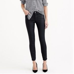 J. Crew Toothpick Skinny Ankle Coated Jeans SZ 26